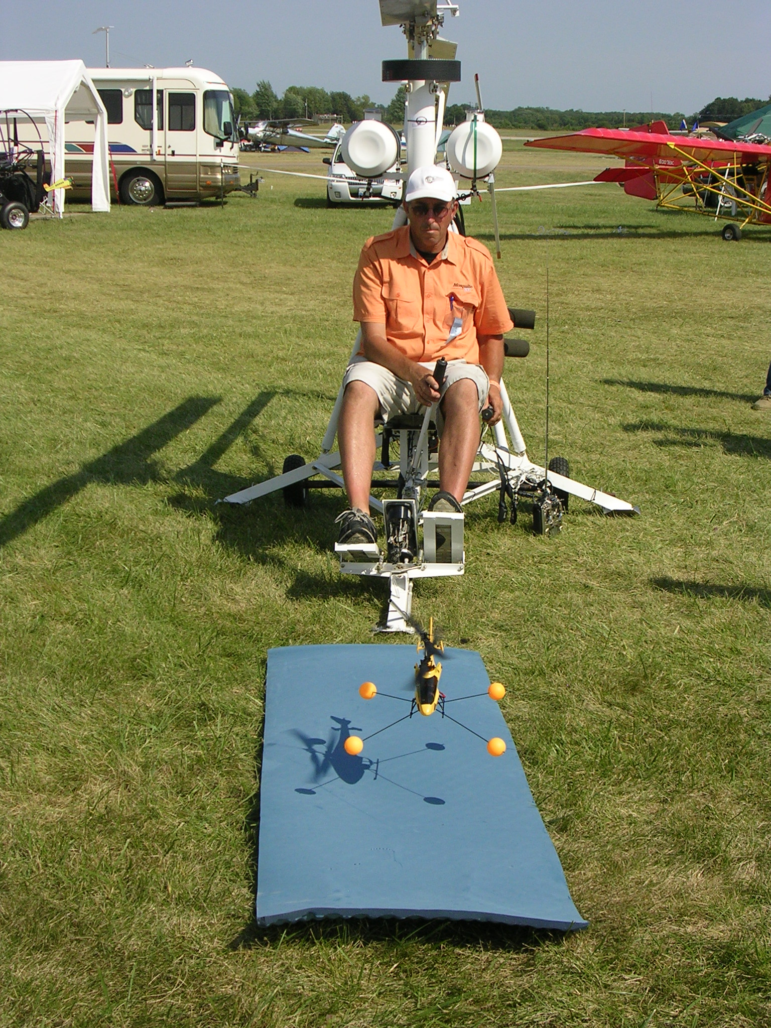 Helicopter flight training device, Heli-Chair, helichair