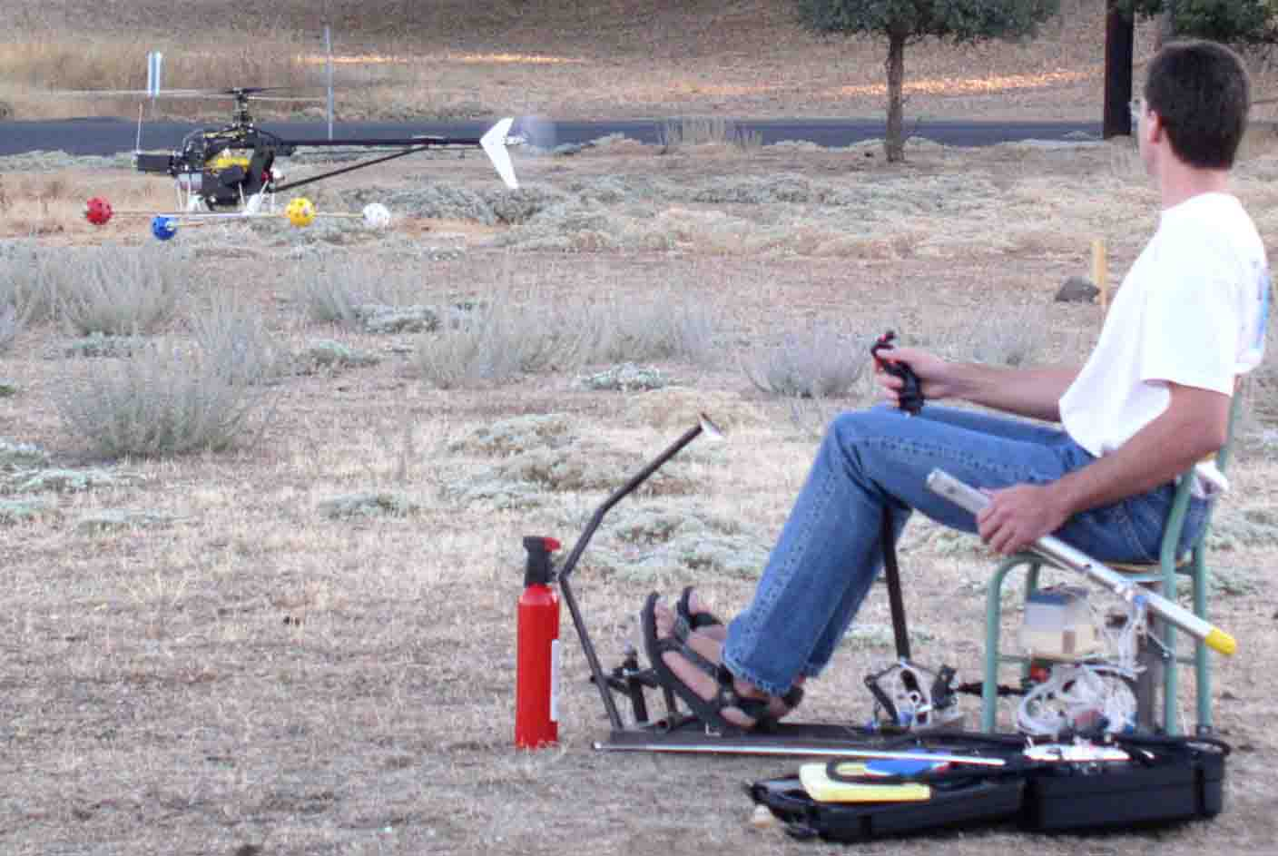 Where can learn to fly a helicopter
